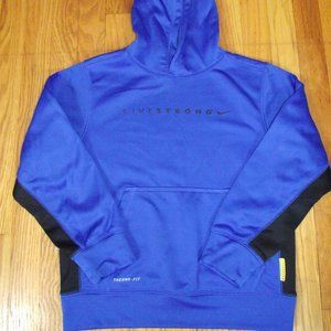 Boy's NIKE Therma-Fit Blue Hoodie Sweatshirt sz M